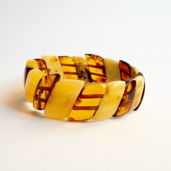 Flat Two-Color Amber Bracelet