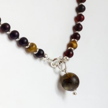 Round Amber Beads Adjustable Long Necklace