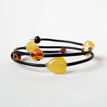 Memory Wire Amber Bracelet