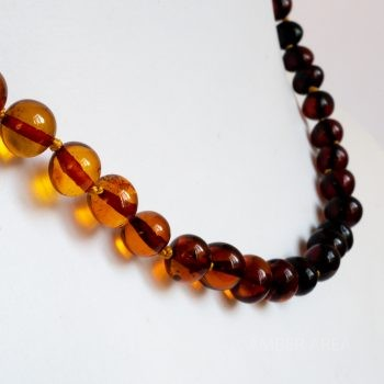 Baroque Gradient Color Amber Necklace