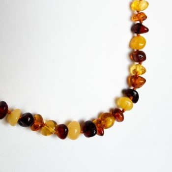 Baroque Multi-Color Amber Necklace