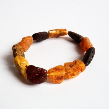 Multi-Color Unpolished Amber Bracelet