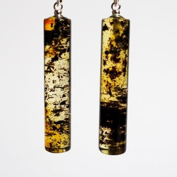 Cylinder Amber Earrings
