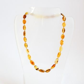 Multi-Color Polished Amber Necklace For Kids
