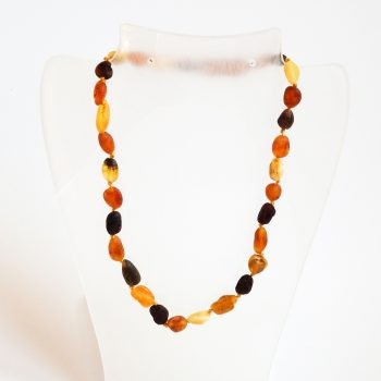 Multi-Color Unpolished Amber Necklace For Kids