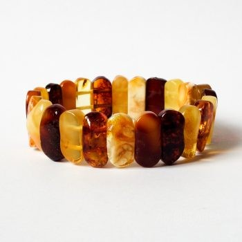 Flat Beads Multi-Color Amber Bracelet