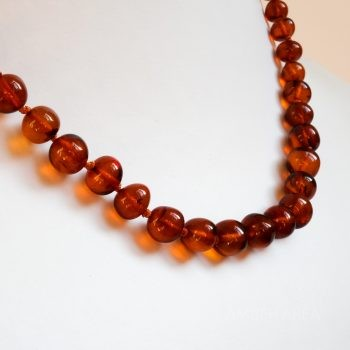 Baroque Brown Amber Necklace