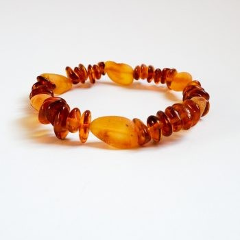 Small Beads Brown Amber Bracelet