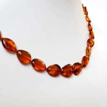 Brown Polished Amber Necklace