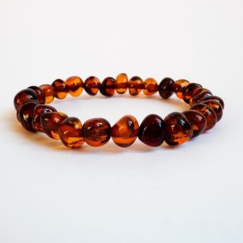 Baroque Brown Amber Bracelet