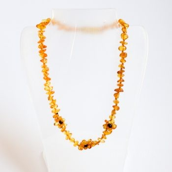 Amber Flowers Brown Necklace For Kids