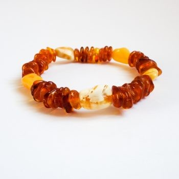 Small Beads Polished Amber Bracelet