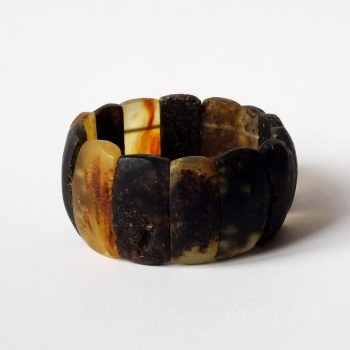 Massive Dark Unpolished Amber Bracelet