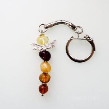 Amber Dragonfly Keychain