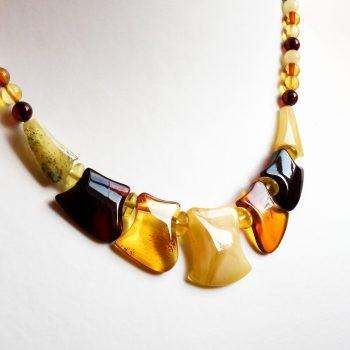 Multi-Color Polished Amber Choker
