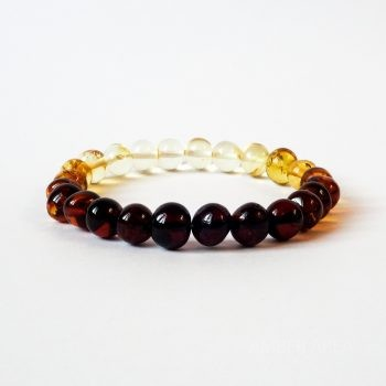 Baroque Gradient Color Amber Bracelet