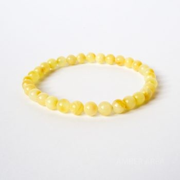 Round Beads White Amber Bracelet