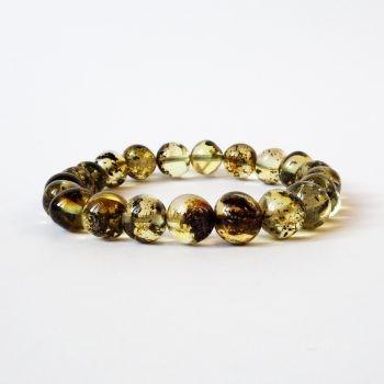 Baroque Green Amber Bracelet