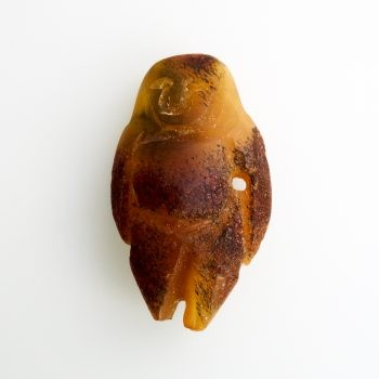 Raw Baltic Amber Amulet