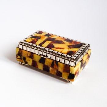 Jewelry Box With Amber Mosaic