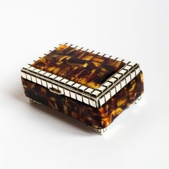 Jewelry Box With Amber Mosaic
