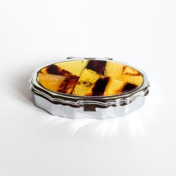 Pill Box With Amber Mosaic