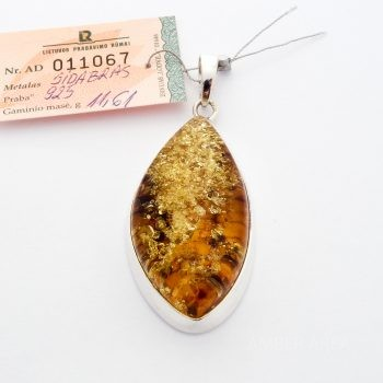 Baltic Amber And Silver Pendant