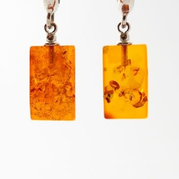 Baltic Amber And Silver Clip On Earrings
