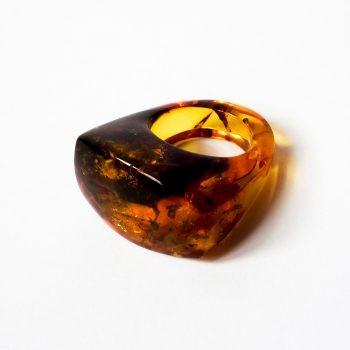Massive Natural Baltic Amber Ring 20 mm