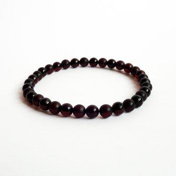 Round Beads Red Amber Bracelet