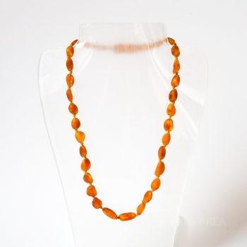Brown Unpolished Amber Necklace For Kids