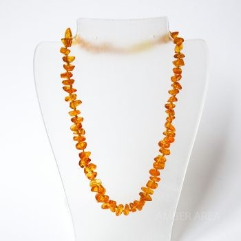 Brown Amber Necklace For Kids