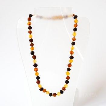 Multi-Color Unpolished Amber Necklace For Kids