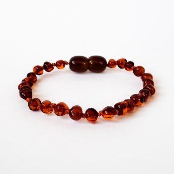 Brown Polished Amber Bracelet For Kids