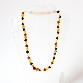 Multi-Color Polished Amber Necklace For Kids
