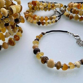 Baltic amber wire bracelets with clasp wholesale