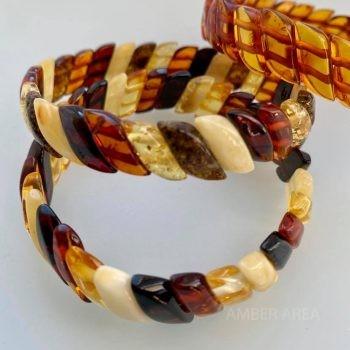 Baltic amber bracelet cross shape wholesale