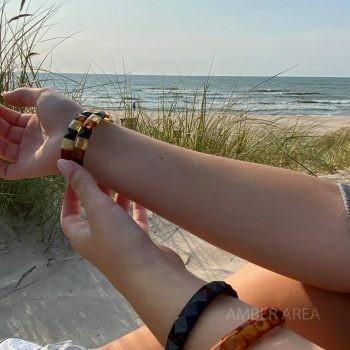 unique amber bracelet pyramids