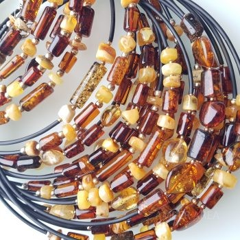 Baltic amber necklace on wire wholesale