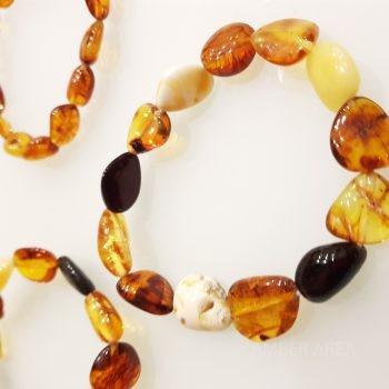 "Baltic amber bracelet ""olive shape"" wholesale"