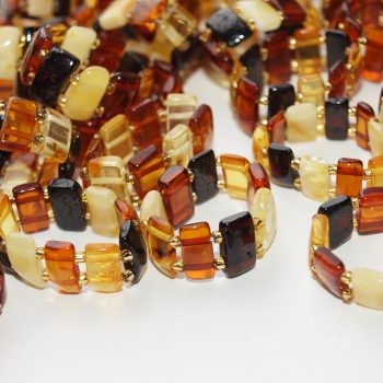 Baltic amber rings on rubber wholesale