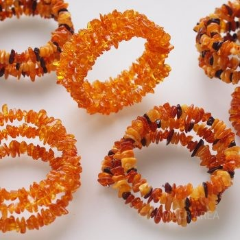 Baltic amber bracelet on wire wholesale