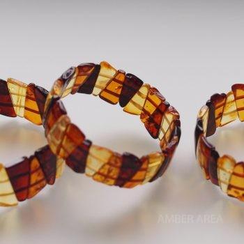 Baltic amber bracelet triangular plate wholesale