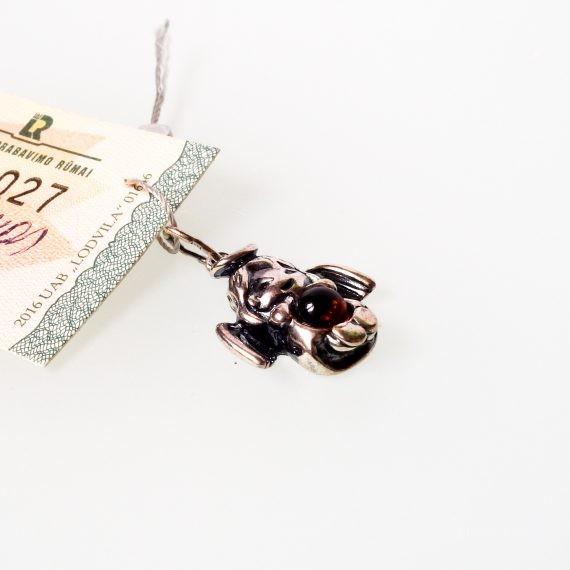 Silver – Baltic Amber Pendant Angel